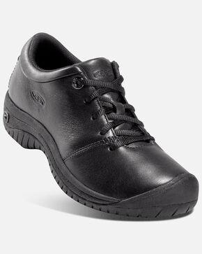 Keen Women's PTC Oxford Work Shoes - Round Toe, Black, hi-res