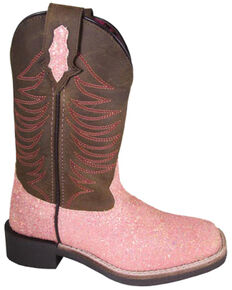 Smoky Mountain Youth Girls' Ariel Western Boots - Square Toe, Pink, hi-res