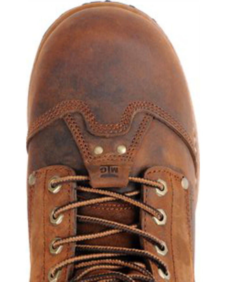 "Carolina Men's 8"" Brown Waterproof Insulated Internal MetGuard Boots - Composite Toe, Brown, hi-res"