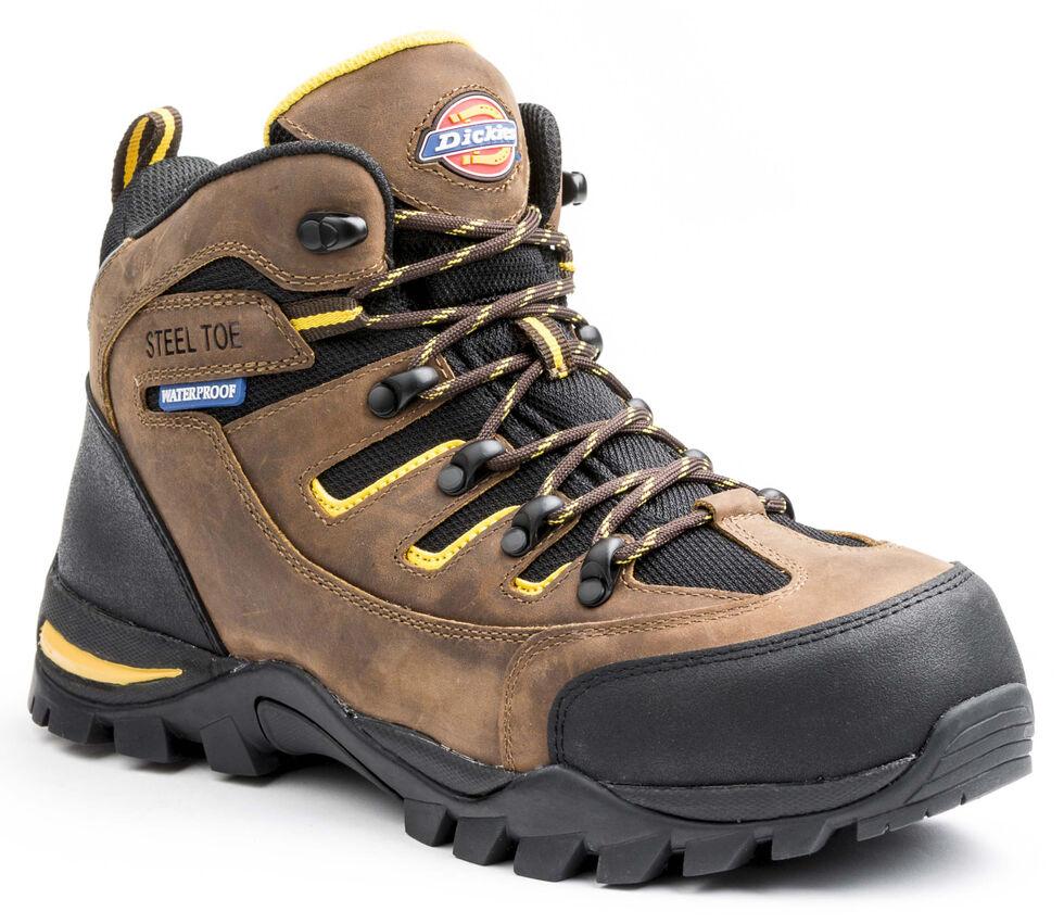 Dickies Men's Sierra HIking Work Boots - Steel Toe, Brown, hi-res