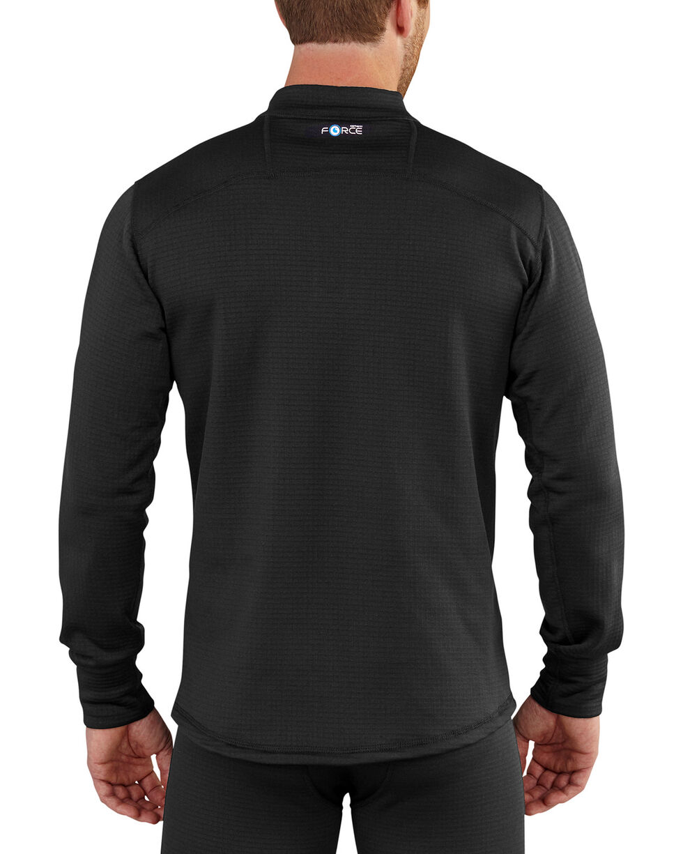 Carhartt Men's Black Base Force Extremes Super-Cold Weather Pullover , Black, hi-res