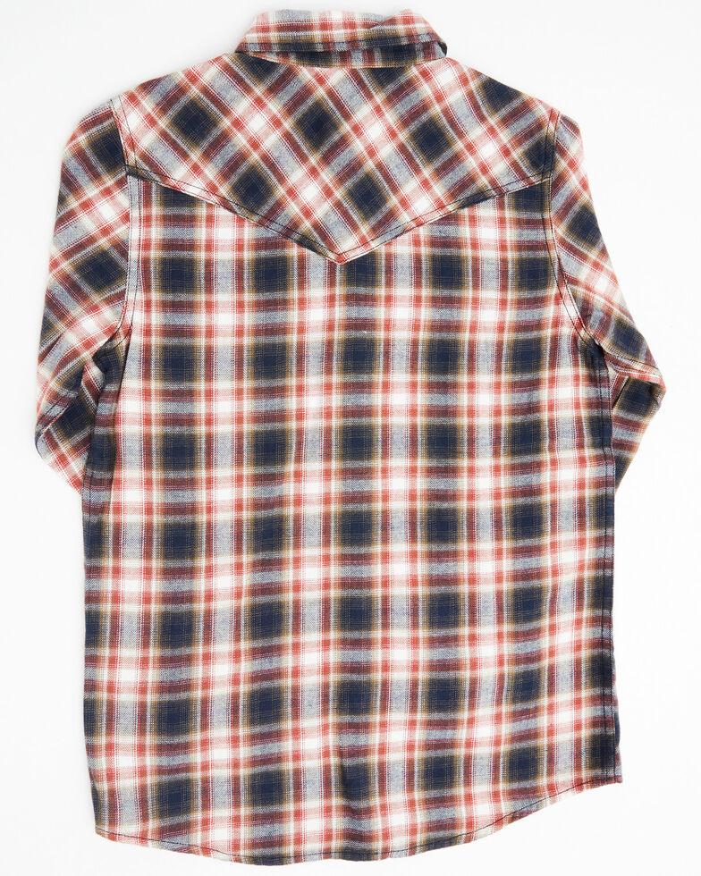 Cody James Boys' Spruce Plaid Long Sleeve Western Flannel Shirt , Black/red, hi-res