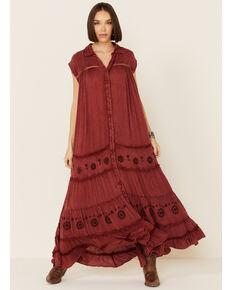 Free People Women's Pretty Cozy Maxi Dress, Brown, hi-res
