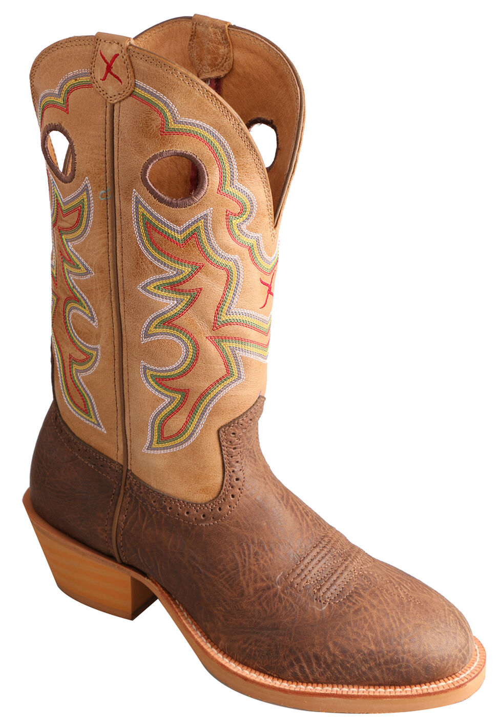 Twisted X Crazy Horse Ruff Stock Cowboy Boots - Round Toe, Crazyhorse, hi-res