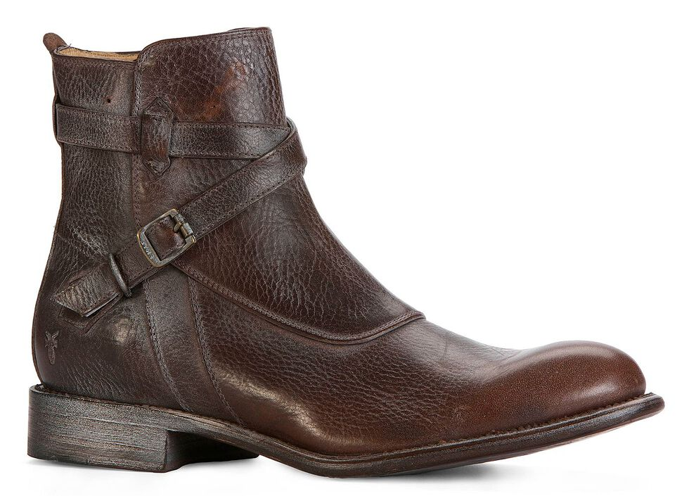 Frye Men's Jayden Crosstrap Boots - Round Toe, Dark Brown, hi-res