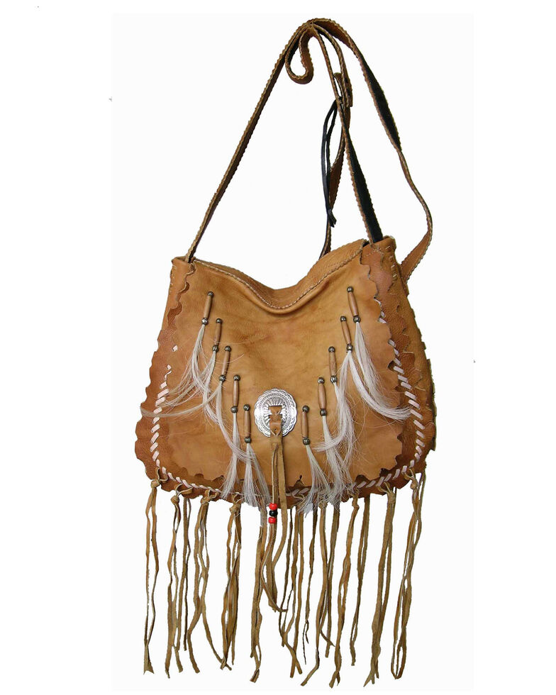 Kobler Leather Women's Navajo Crossbody Bag, Tan, hi-res