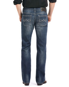 Rock & Roll Cowboy Men's Reflex Pistol Straight Leg Jeans, Blue, hi-res