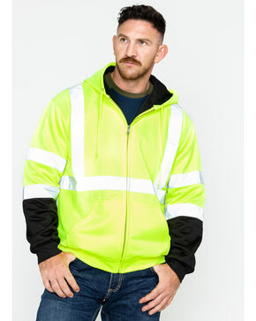 Hawx® Men's Soft Shell Visibility Safety Jacket, Yellow, hi-res