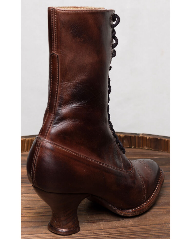 Oak Tree Farms Mirabelle Brown Boots - Medium Toe, Dark Brown, hi-res