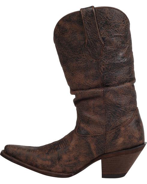 Durango Women's Crush Drunken Slouch Cowgirl Boots - Snip Toe, Dark Brown, hi-res