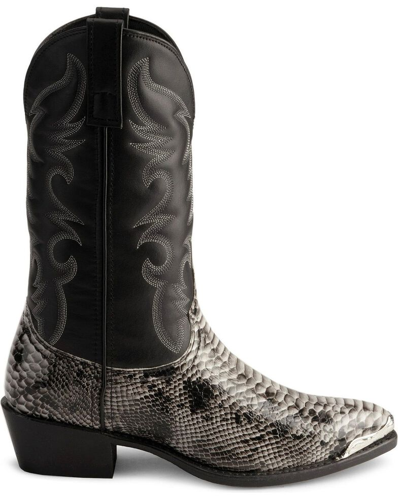 5d6e0b5b811 Laredo Snake Print Cowboy Boots