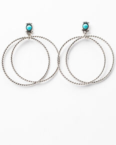 Idyllwind Women's Double Dare Silver Hoop Earrings, Silver, hi-res