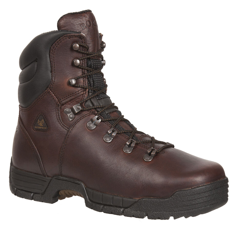 Rocky Men's MobiLite Steel Toe Waterproof Oil-Resistant Work Boots, Copper, hi-res