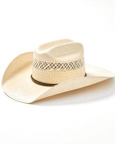 Master Hatter Men's 20X Natural Straw Vented Western Hat , Natural, hi-res