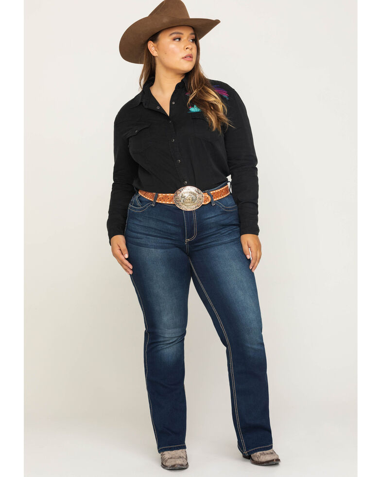Wrangler Women's Western Ultimate Riding Q-Baby Jeans - Plus , Blue, hi-res
