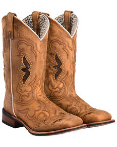 82222b7c39b Laredo Womens Spellbound Western Boots - Square Toe , Tan, hi-res