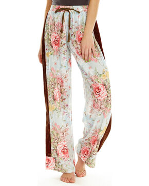 Aratta Women's Valentine Beaded Pants, Aqua, hi-res