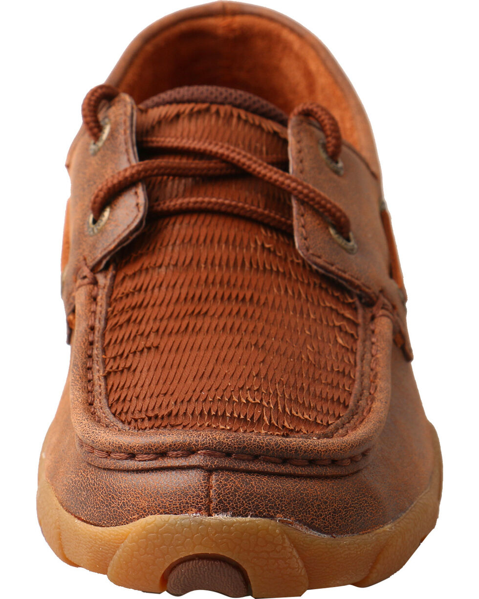 Twisted X Women's Layered Fringe Driving Mocs - Moc Toe, Brown, hi-res