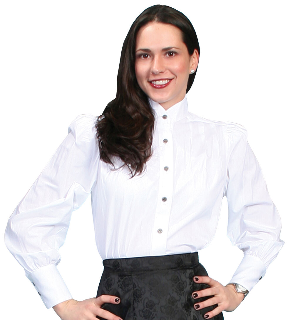WahMaker by Scully Women's Victorian Blouse, White, hi-res