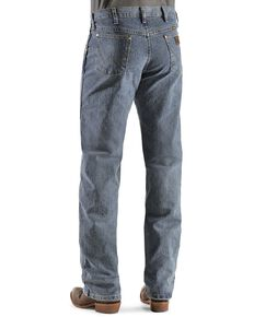 Wrangler Men's Premium Performance Advanced Comfort Mid Tint Jeans - Big & Tall, Dark Denim, hi-res