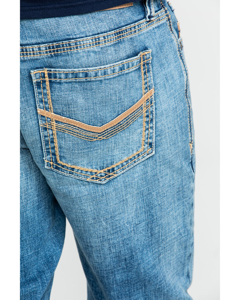Cody James Core Men's Clover Leaf Stretch Slim Straight Jeans , Blue, hi-res