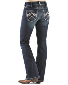 Ariat Women's R.E.A.L. Whipstitch Bootcut Jeans, Denim, hi-res