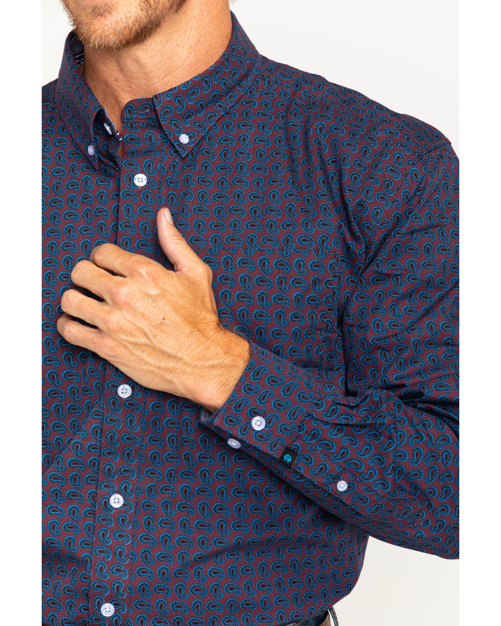 Cody James Men's Tulsa Paisley Long Sleeve Button Down Shirt, , hi-res