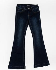 Grace in LA Girls' Medium Basic Flare Jeans, Blue, hi-res