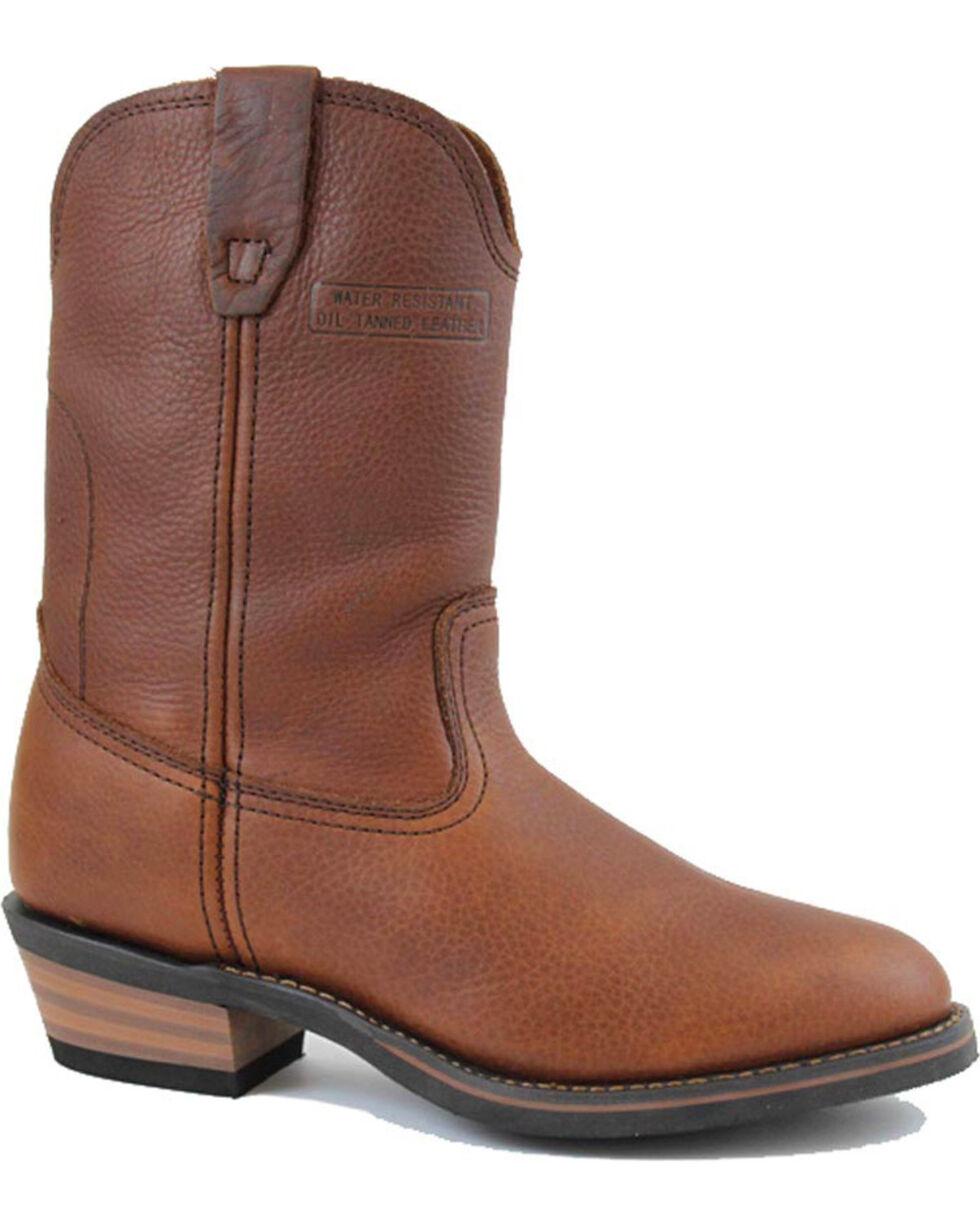"""Ad Tec Men's 12"""" Ranch Wellington Work Boots - Soft Toe, Mahogany, hi-res"""