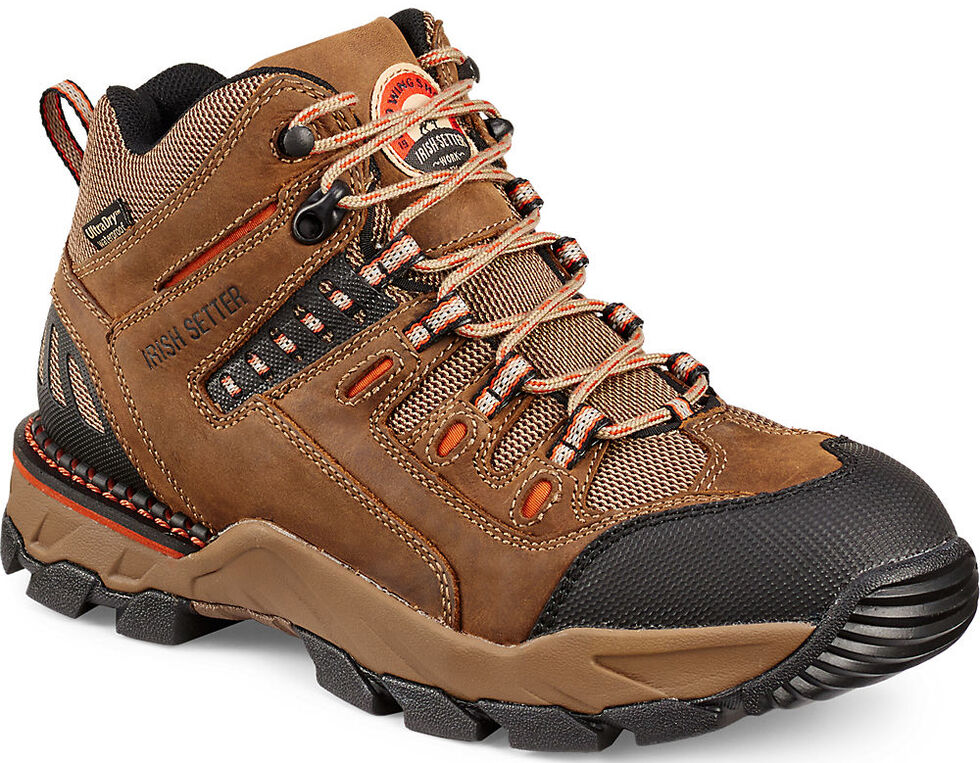 Irish Setter by Red Wing Shoes Men's Two Harbors Hiker Work Boots, Brown, hi-res