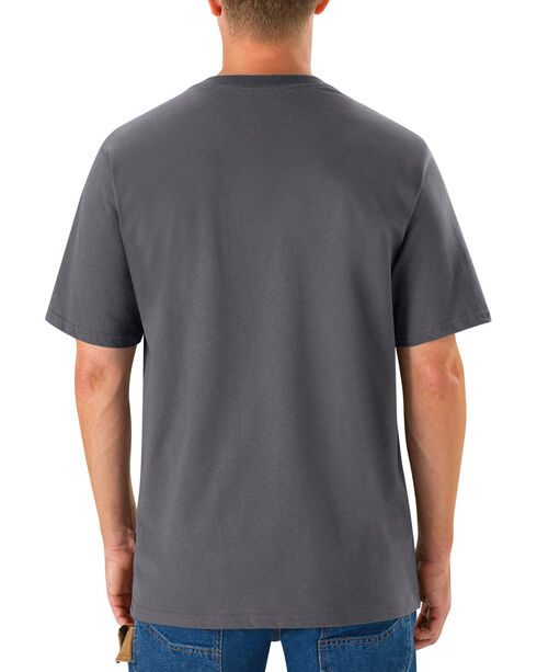Red Kap Men's Safety Grey Solid T-Shirt , Steel, hi-res