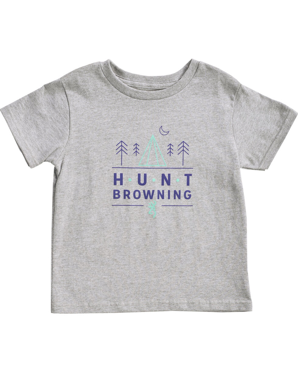 Browning Toddler Boys' Grey Hunt Pines Tee , Grey, hi-res