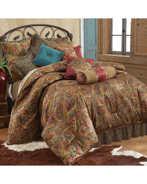 HiEnd Accents San Angelo Leopard Print Queen Size 4 Piece Comforter Set, Multi, hi-res