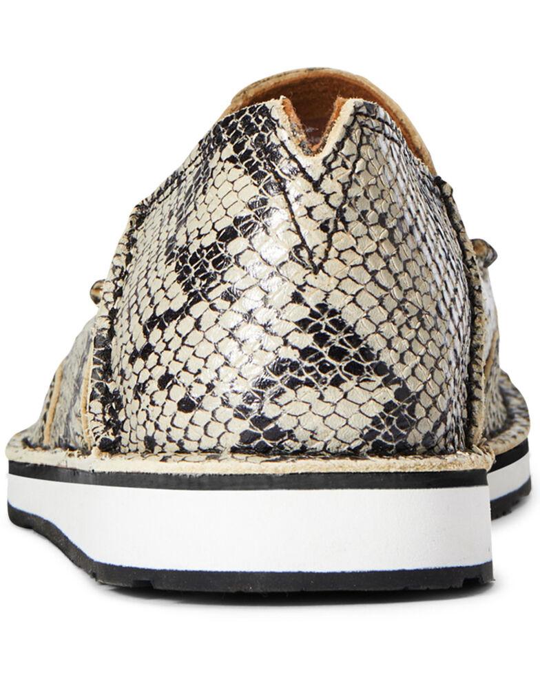 Ariat Women's White Snake Cruiser Shoes - Moc Toe, Black, hi-res