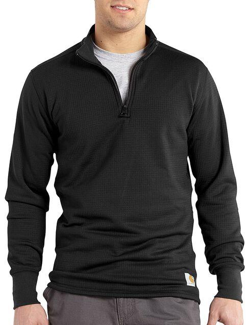 Carhartt Men's Base Force Super-Cold Weather Quarter-Zip Top - Big & Tall, Black, hi-res