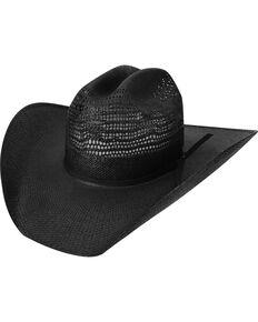 09d22115ddf Bailey Desert Knight Black Straw Western Hat