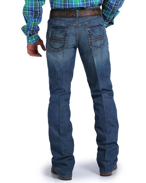 Cinch Men's Ian Performance Denim Medium Stonewash Slim Fit Jeans - Boot Cut, Indigo, hi-res