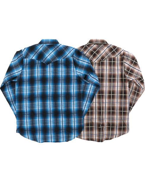 Ely Cattleman Boys' Assorted Plaid Long Sleeve Shirt, Multi, hi-res