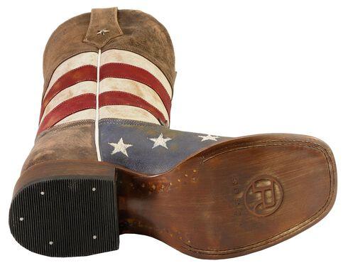 Roper American Flag Cowboy Boots - Square Toe, Blue, hi-res