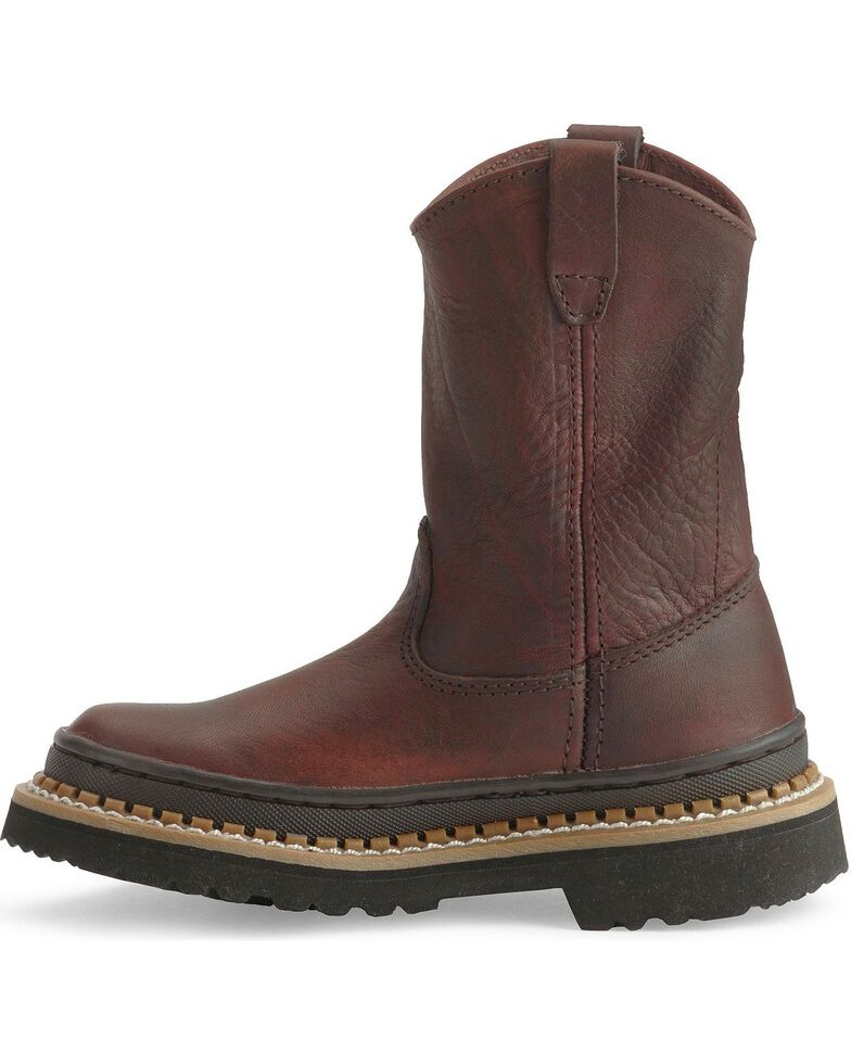 Georgia Boys' Little Georgia Giant Wellington Boots - Round Toe, Brown, hi-res