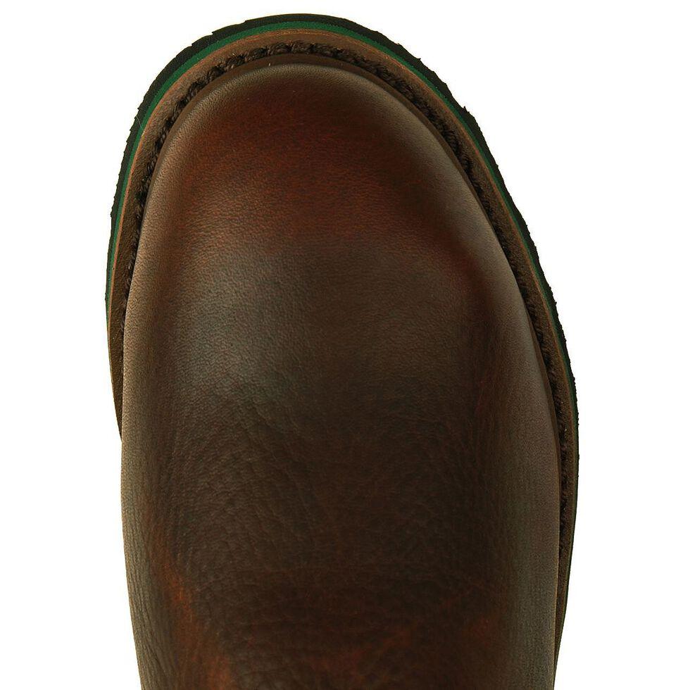 John Deere Met Guard Wellington Work Boots - Steel Toe, Dark Brown, hi-res