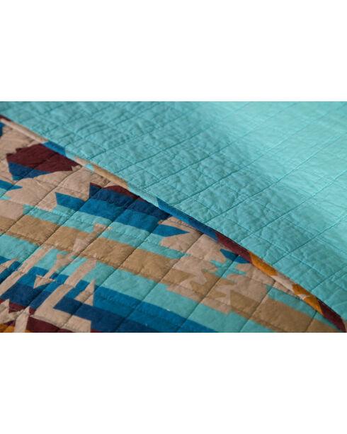 Carstens Southwest Harvest King Quilt, Blue, hi-res