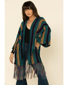Wrangler Retro Women's Multi Aztec Stripe 3/4 Sleeve Duster, Multi, hi-res
