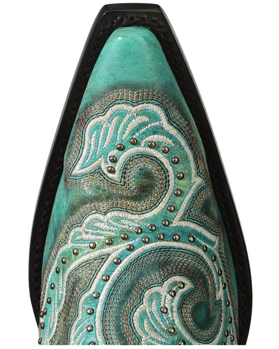 Corral Women's Shaded & Studded Cowgirl Boots - Snip Toe, Turquoise, hi-res