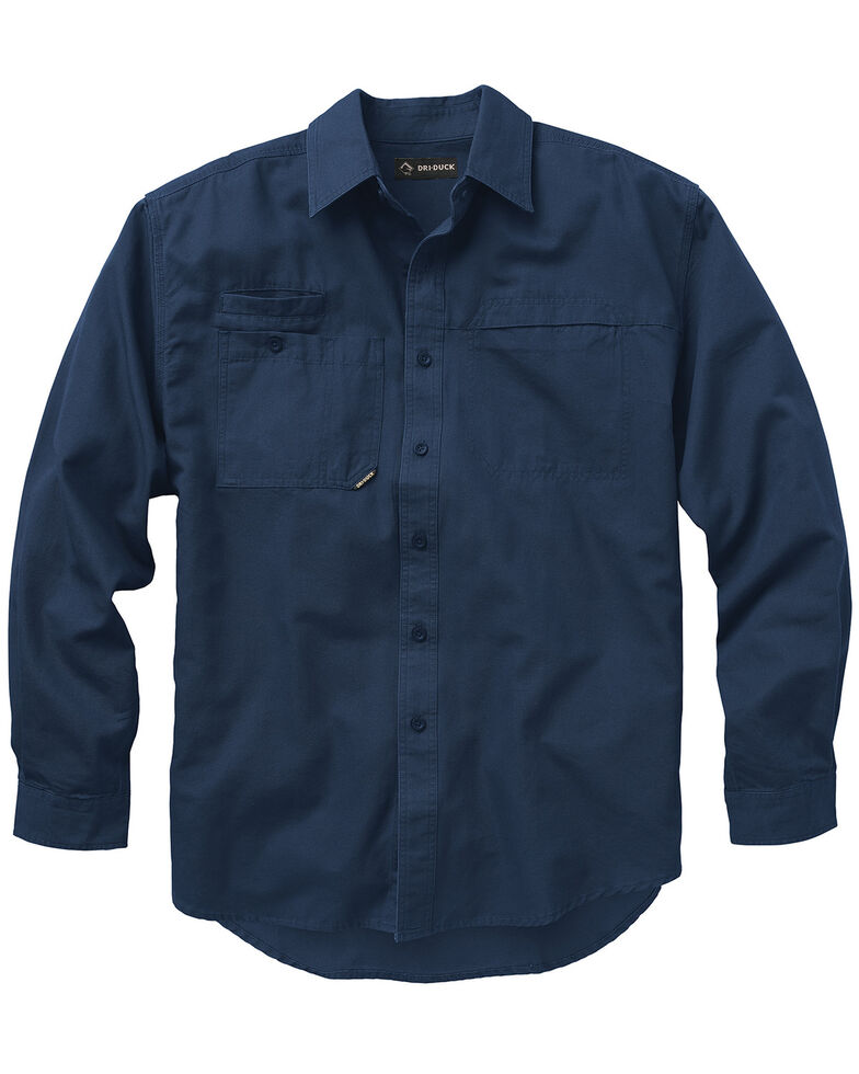 Dri Duck Men's Mason Work Shirt - Big and Tall, Dark Blue, hi-res