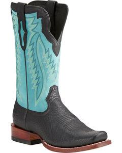 Ariat Men's RLS Prime Bullhide Boots - Square Toe , Black, hi-res