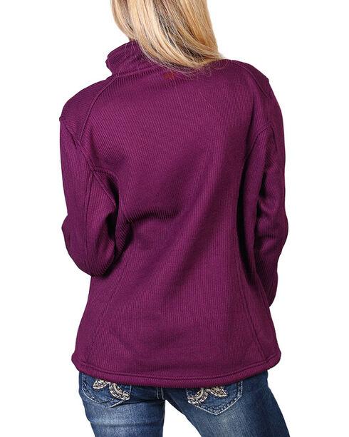 Polar King Women's Fleece Lined Knit Jacket, Grape, hi-res