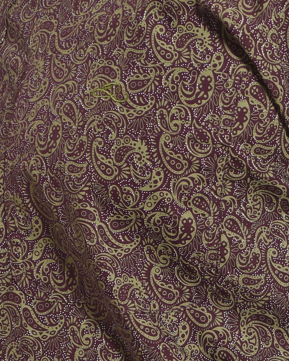 Resistol Men's Purple McRae Button Shirt , Purple, hi-res