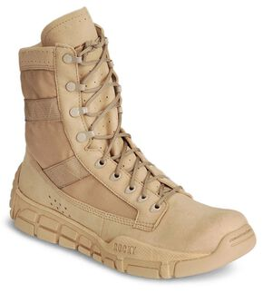 "Rocky C4T 8"" Lace-Up Training Military Boots - Round Toe, Tan, hi-res"