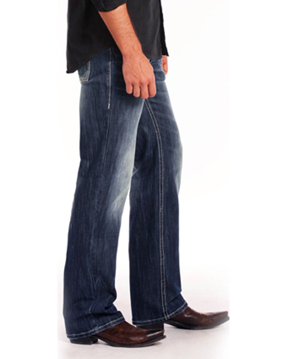 "Rock & Roll Cowboy Men's ReFlex Triple ""V"" Stitch Jeans - Straight Leg , Indigo, hi-res"